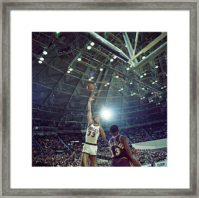 Kareem Abdul Jabbar Sky Hook Framed Print by Retro Images Archive