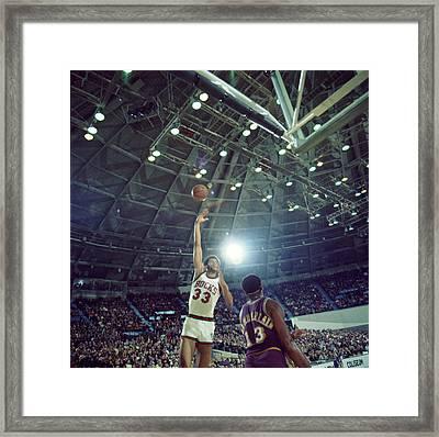 Kareem Abdul Jabbar Sky Hook Framed Print by Retro Images Archive