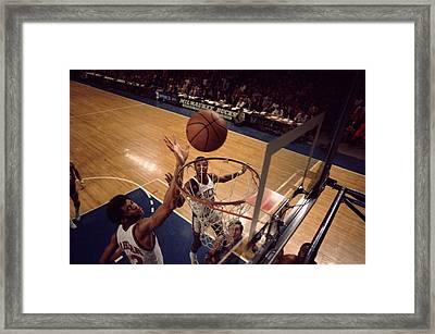 Kareem Abdul Jabbar Tip In Framed Print by Retro Images Archive