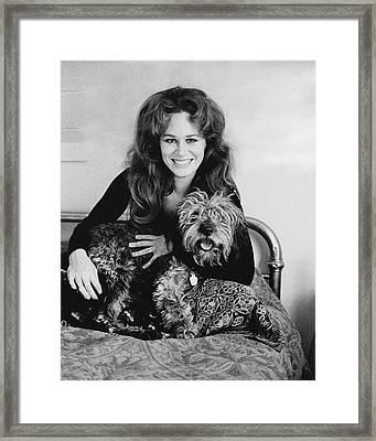 Karen Black With Her Dog Framed Print