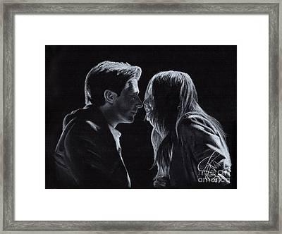 Karen Gillan And Arthur Darvill Framed Print by Rosalinda Markle