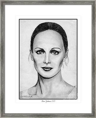 Karen Graham In 1978 Framed Print by J McCombie