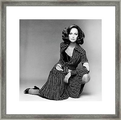 Karen Graham Wearing A Shirt Framed Print