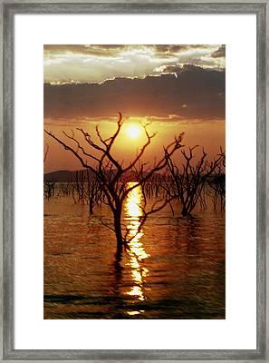 Kariba Sunset Framed Print