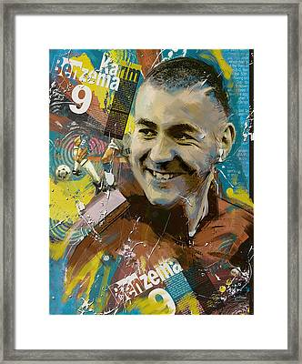 Karim Benzema - B Framed Print by Corporate Art Task Force