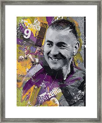 Karim Benzema - C Framed Print by Corporate Art Task Force