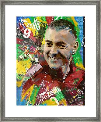 Karim Benzema Framed Print by Corporate Art Task Force