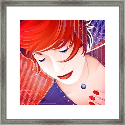 Karin Framed Print by Sandra Hoefer
