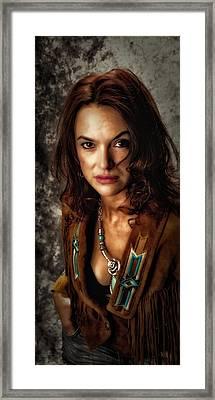 Framed Print featuring the photograph Karina - Indian Jacket ... by Chuck Caramella