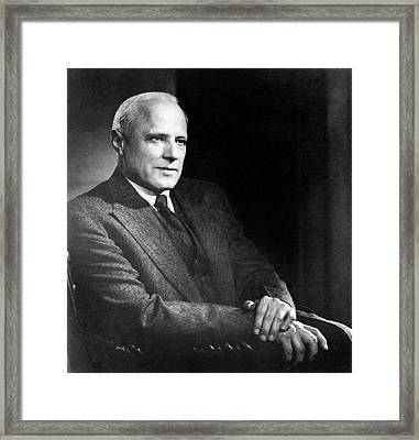 Karl Compton Framed Print by Yousuf Karsh Of Ottawa, Courtesy Aip Emilio Segre Visual Archives