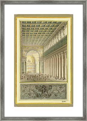 Karl Friedrich Schinkel, German 1781-1841 Framed Print by Litz Collection