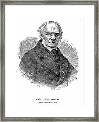 Karl Ludwig Hencke Framed Print by Universal History Archive/uig