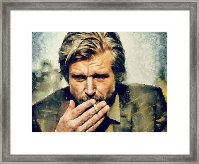 Karl Ove Knausgaard  Framed Print by Janice MacLellan