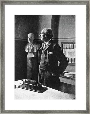 Karl Pearson Framed Print by National Library Of Medicine