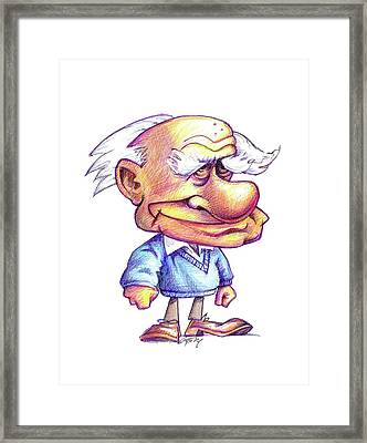 Karl Popper Framed Print by Gary Brown