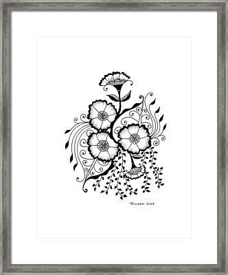 Karla's Flowers Framed Print