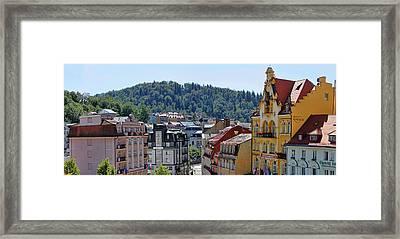 Karlovy Vary Panorama Framed Print