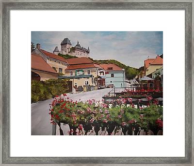 Karlstejn Castle Framed Print