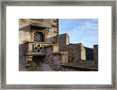 Karlstejn Castle Doorway Framed Print by Joan Carroll