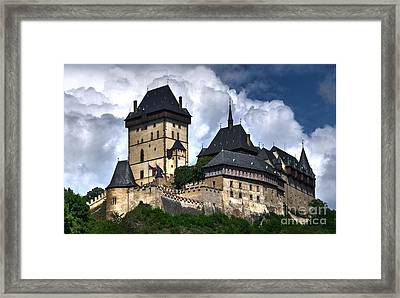 Framed Print featuring the photograph Karlstejn Castle In Prague 2 by Joe  Ng