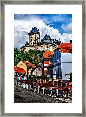 Karlstejn Castle In Prague  Framed Print