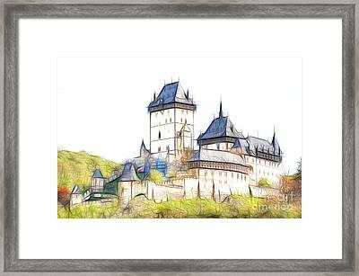 Karlstejn - Famous Gothic Castle Framed Print by Michal Boubin