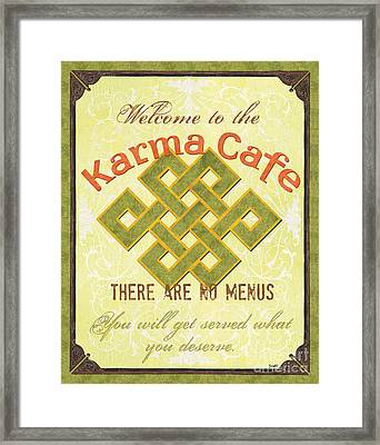 Karma Cafe Framed Print by Debbie DeWitt