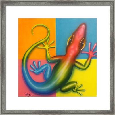 Karma Chameleon Framed Print