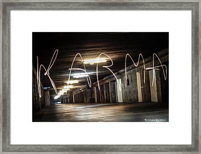 Framed Print featuring the photograph Karma Light Painting by Stwayne Keubrick