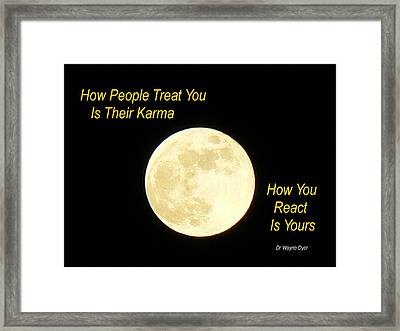 Karma Framed Print by Lin Haring