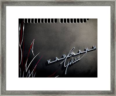 Karmann Black Framed Print by Douglas Pittman