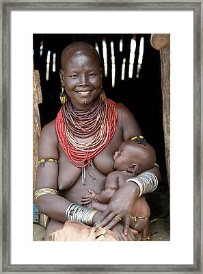 Karo Woman Breast Feeding Framed Print