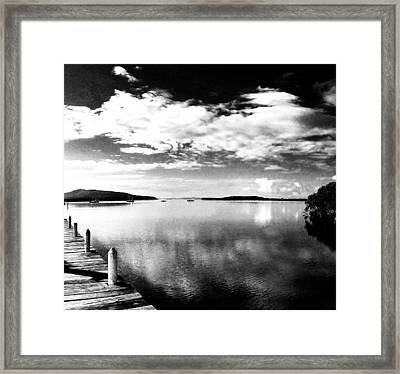 Karuah From The Jetty Square Framed Print