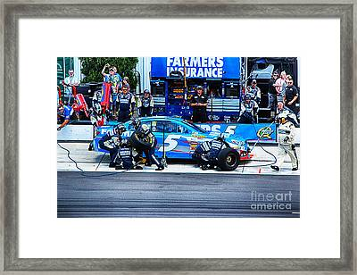 Kasey Kahne's Last Stop Before Victory Framed Print