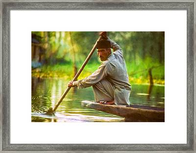 Kashmir Dream Impasto Framed Print by Steve Harrington