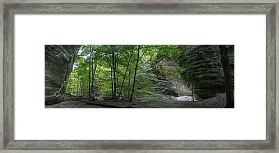 Kaskaskia Canyon Framed Print by Gary Lobdell
