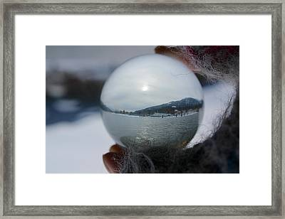 Kaslo Winter Framed Print by Cathie Douglas