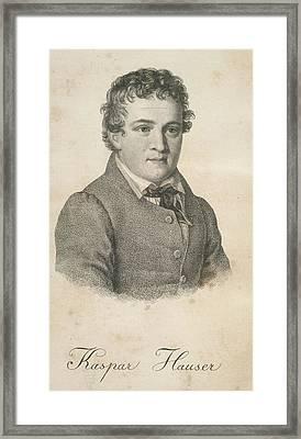 Kaspar Hauser Framed Print by British Library