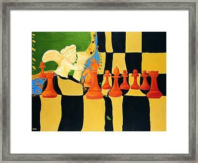 Kasparov-karpov Framed Print by Nicolas Sphicas