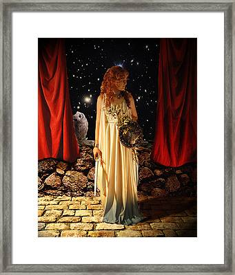 Kat As Athena  Framed Print