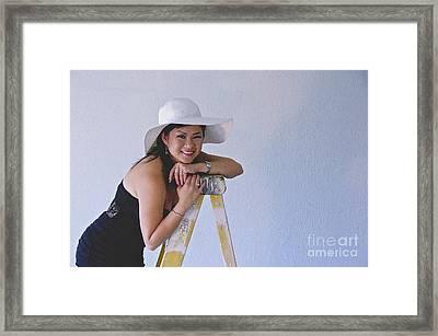 Kat In The Hat 2 Framed Print