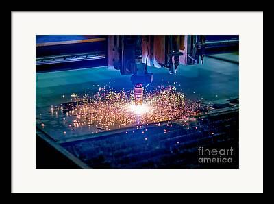 Plasma Cutter Framed Prints