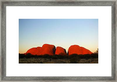 Kata Tjuta 2012 Framed Print by Evelyn Tambour