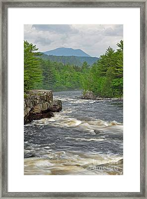 Katahdin And Penobscot River Framed Print by Glenn Gordon