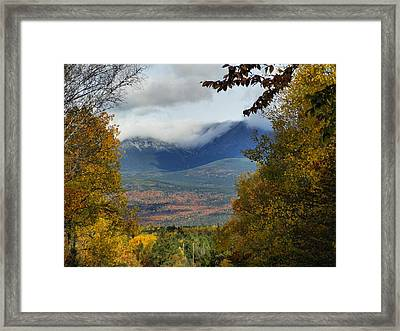 Framed Print featuring the photograph Katahdin Autumn by Gene Cyr