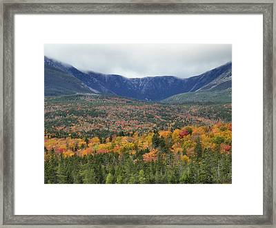 Framed Print featuring the photograph Katahdin Fall by Gene Cyr