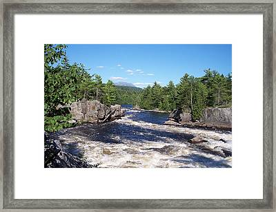 Katahdin From The Crib On The West Branch Framed Print