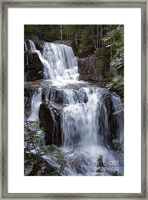 Katahdin Stream Falls Baxter State Park Maine Framed Print