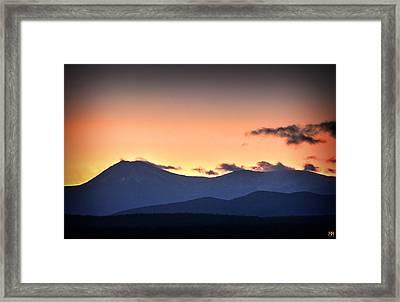 Katahdin Sunset Framed Print