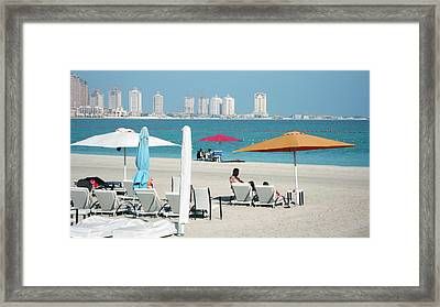 Katara Beach Framed Print by Bob Edwards